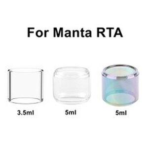 4/1PCS Pack Replacement Bulb Bubble Glass Tank Tube For Manta RTA Atomizer Glass 3.5ml 5ml Vape Electronic Cigarette Accessories