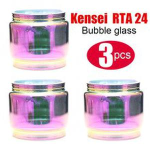 3pcs Replacement fatboy style glass tube for Kensei 24 RTA  atomizer tank bubble glass rainbow color
