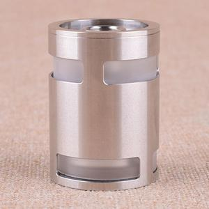 Replacement Glass Tank + Top Lid + Chimney for ShenRay TF GT4 Atomizer - Silver