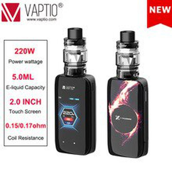 E Cigarette BOX MOD 220W KIT VAPTIO X-HUBBLE KIT Vape kit e-cigarettes 5.0ml tank touch Screen long last and huge power battery