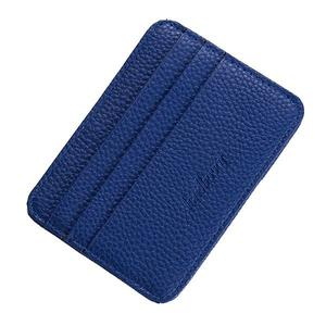 Baellerry Multi-card ultra-thin large capacity short card package - Blue