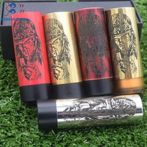 hot style thin piece Mod with Carnage RDA mods kit fire button side brass Pei battery 510 wire material 18650 vape mods Overlord