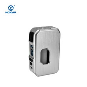 Aurora 80w Drag Tc Mod Stainless Steal Squonk Mod Bottle 21700/20700/18650 Battery With 0.96 ' TFT Color Screen Vape Mod