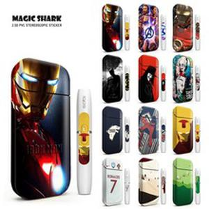 Magic Shark Iron Man Spider Bat Man Vendetta Sticker Clown Girl Skin for IQOS 2.4 Plus Case  Electronic Cigarette Cover