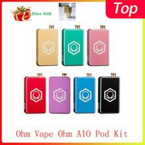 Original Ohm Vape Ohm AIO Pod Kit powered by single 18650 high-rate battery&max output 42W E-cig Vape Kit Vs vinci Kit