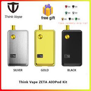 Free gift Think Vape ZETA AIO 60W Pod Kit powered by 18650 battery box mod & 3ml tank E Cigarette for DTL / MTL vape AIO Pod Kit