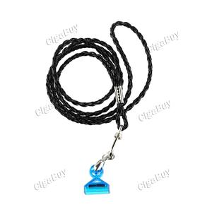 Leather Lanyard For Juul - Black + Blue