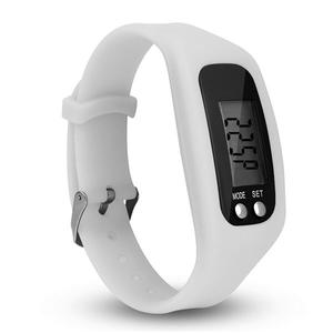 L8009  Movement Time / Step count / Calorie / Travel kilometer Intelligent hand ring - White