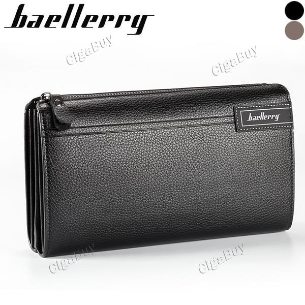 Baellerry Men Wallet Luxury Long Clutch Handy Bag Male PU Leather Purse