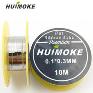 Heating Wire SS 316L Flat Ribbon heating wire 10m/roll for RDA RBA Rebuildable Atomizer Coil Heating Wires DIY Tool Kit
