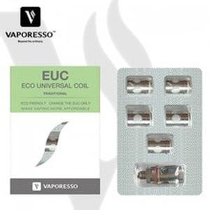 Traditional EUC Clapton Coil Head 0.4ohm 0.5ohm add sleeve for Estoc Tank Mega/Veco Plus/Gemini Tank 5pcs/pack