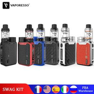 Original  Vape SWAG Kit 80W Electronic Cigarette With NRG SE Tank 3.5ml Atomizers GT Coil Core swag box mod E-cig