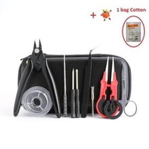 Mini Vape DIY Tool X9 Bag Tweezers Pliers Wire Heaters Kit Coil For Packing Electronic Cigarette Accessories