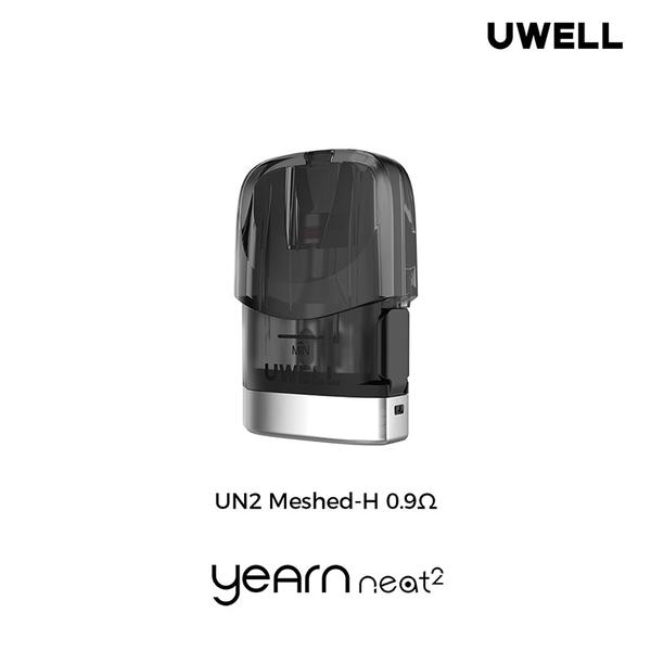 yearn neat 2 Refillable Pod 2ML Cartridge with UN2 Meshed-H 0.9ohm Coil Vaporizer  For E-cigarette Kit  2pcs/Pack