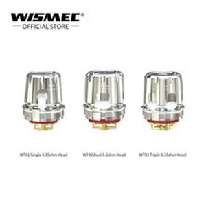 5Pcs/lot WISMEC WT Coil WT01 Single 0.35ohm WT02 Dual 0.2ohm WT03 Triple 0.15ohm mesh Coils Vape head For  Trough Tank