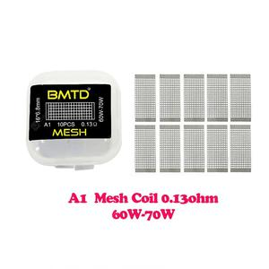 10Pcs BMTD Mesh Style Coils A1 0.13Ohm S316 0.12Ohm Ni80 0.16Ohm Heating Coil Wire for  RDA