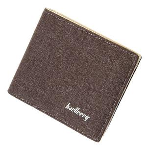 Baellerry  Ultra-thin canvas mini wallet - Coffee