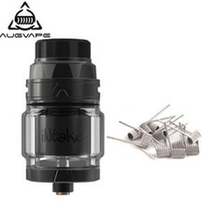 Intake RTA Tank With Clapton 10pcs Dual Core Fused Coils 4.2ml Capacity 24mm Leak Proof Bottom Single Coil RTA Atomizer