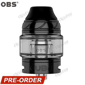 Cube Sub-Ohm Tank Atomizer 4ML 24MM - Black