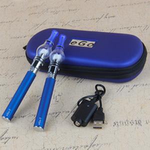 eGo Double Wax Pen Kits E Cigarettes with eGo Battery Glass Globe Concentrate Atomizer Herbal Vapor Dry Herb Vape Pen Kit