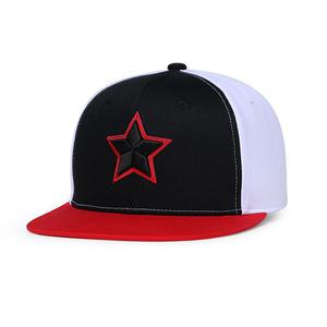 NUZADA Contrast color stitching flat cotton five-pointed star embroidered hip hop baseball cap - Five stars