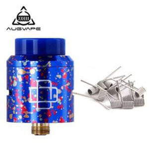 Druga RDA Atomizer Tank Candy Color 24mm Electronic Cigarette DIY Coil Big Airflow Dual Post Gold Plated Deck RDA Tank