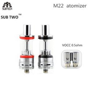 Sub two m22  e cigarette  atomizer vape tank  with 0.5ohm Vocc  coil  fit box mod 20w-100w 510 thread