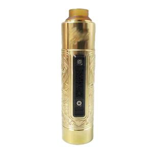 Pur Slam Piece Style 18650/20700/20650/21700 Mechanical Mod+Money Shot RDA Kit (with stripe)- Brass