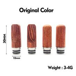 Stainless Steel Wooden Flat Round 510 Drip Tip Vape Mouthpiece Fit EGO Electronic Cigarette Atomizer mtl Accessories