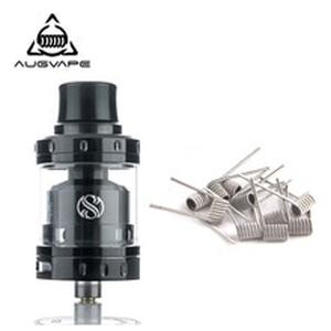 Merlin Mini RTA Atomizer tank with 10pcs Clapton Dual Core Fused Coils Leak Proof Bottom Single Coil RTA Atomizer