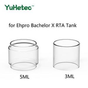5PCS Original YUHETEC Replacement Glass TUBE for  Bachelor X RTA Tank 3ML/5ML