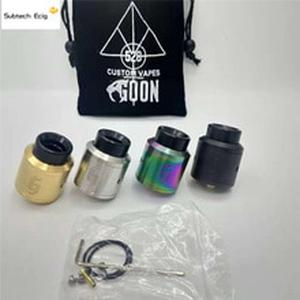Newest 1:1 Goon 528 25 RDA E Cigarette Atomizers 25mm RDA Vaporizer Peek Insulater Vape Tank Fast Shipping High Quality