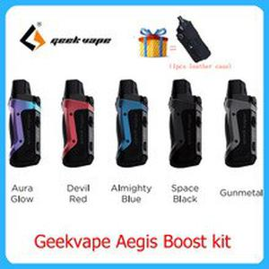 Original  Aegis Boost pod vape kit built-in 1500mah battery with 3ML Atomizer E Cigarette Vape Kit