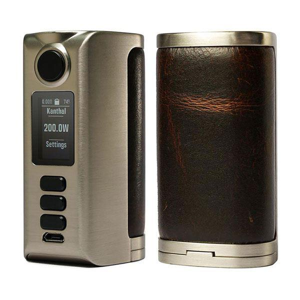 (Presale)    Riva  DNA250C 200W  -  VW 1~200W, 2 x 18650, Evolv DNA250C chipset - Silver-Vintage Brown