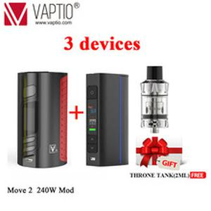 GIFT Vapor MOVE 2 Bypass 240W VW TCR Mod Temperature Control  Fit 510 thread Tank Vape Electronic Cigarette Fashion