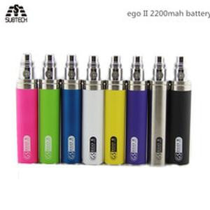 5pcs GS eGo II Battery 2200mah E Cigarettes Updated EGO I Week Battery For 510 CE4 MT3 Atomizer GS Ego 2 Battery