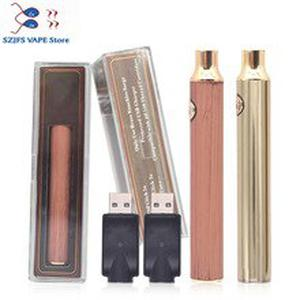 sub two BK batterey 650mah 900mah Vape Pen USB Charger Vape Battery Gold Wood 510 Wire Crystal Pack for CBD Thick Oil Cartridge