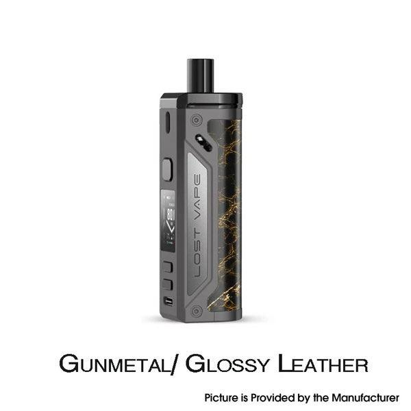 Thelema 80W Pod System VW Mod Kit - 3000mAh, 5~80W, 4.0ml, 0.2ohm / 0.3ohm - Gunmetal/Glossy Leather