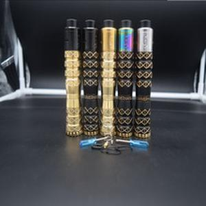 HAMMERHAND mod kit 18650 battery 25mm brass Mechanical Vaporizer  mod vape with 528 GOON 25 RDA Adjustable tank mtl rta Atomizer