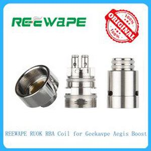 Hot original 1pcs REEWAPE RUOK RBA Coil fit for Geekavpe Aegis Boost electronic cigarette vape kit Vape accessory