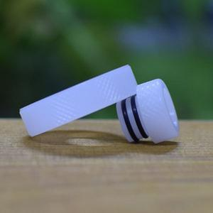 Never normal ring w/ 510 drip tip for 22mm Atomizer - White