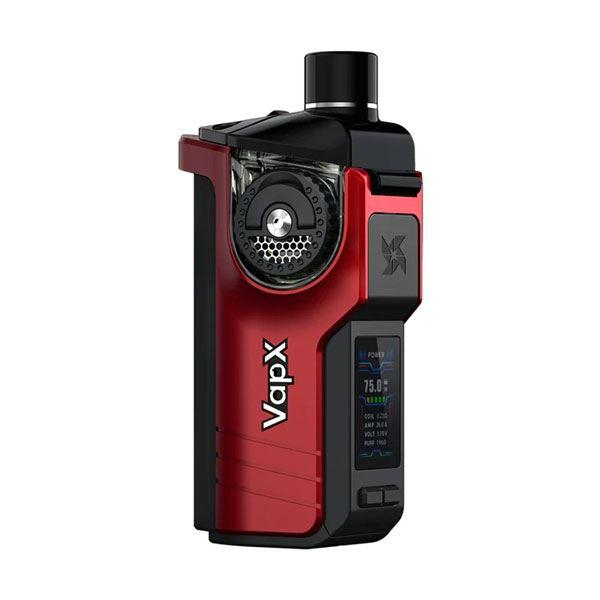 (Presale)Authencit VapX Geyser 100W Pod Kit , Suitable for 18650/21700 battery,Without Battery Edition  - Volcano Red