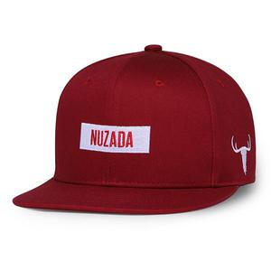 NUZADA Embroidered NUZADA LOGO cotton hip hop hat (Classic version) - Red