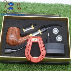Electronic cigarette ePipe 618 Kit E pipe 618 electronic smoking pipe with wooden  mod 2.5ml atomizer 18350 battery vs K10