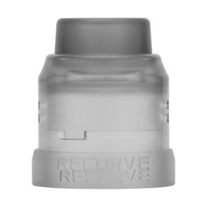 Replacement 22mm Top Cap + Drip Tip + 24mm Decorative Ring for Recurve Atomizer - Black Frosted