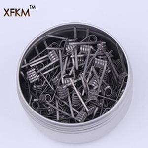 50/100 pcs Flat twisted  Fused clapton coils Hive premade wrap wires Alien Mix twisted Quad Tiger Heating Resistance rda coil