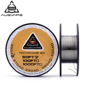 50 feet/roll Ni80 Coil Wire for Electronic Cigarette RDA RTA Atomizer DIY Prebuilt Nichrome Heating Coils Wires
