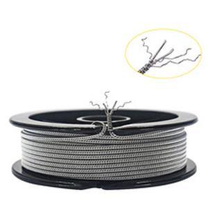 HOT 10feet NI80 SS316L A1 (26GA+32GA)x2+32GA SS Staggered Fused Clapton Wire DIY Wire for RBA RDA RDTA Atomizer Coil