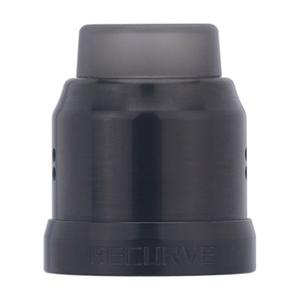 Replacement 22mm Top Cap + Drip Tip + 24mm Decorative Ring for Recurve Atomizer - Black