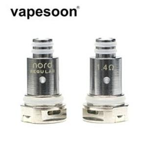5pcs vapesoon Replacement Nord Coil Head Regular Mesh Ceramic 1.4/ 0.6/0.8ohm for  Nord Kit Vape Pod System e-Cigarette